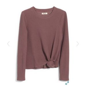 Madewell Front Knot Jacquard Top S